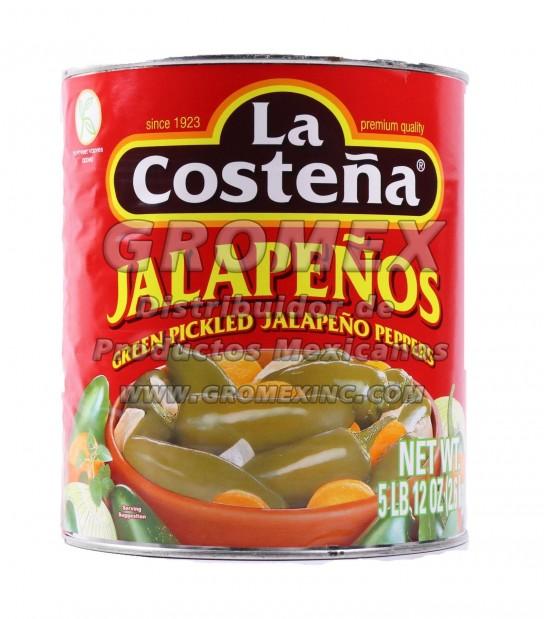 La Costeña Jalapeño Entero 6/92 oz
