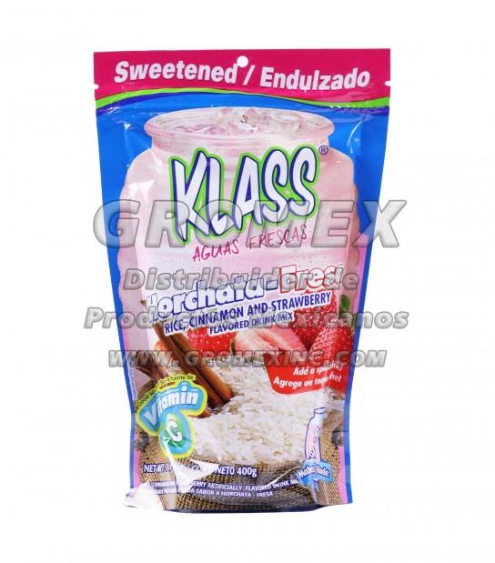 Klass Listo Horchata/Fresa 18/400 gr
