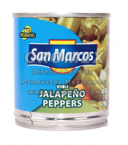 San Marcos Jalapeño Entero 24/7 oz