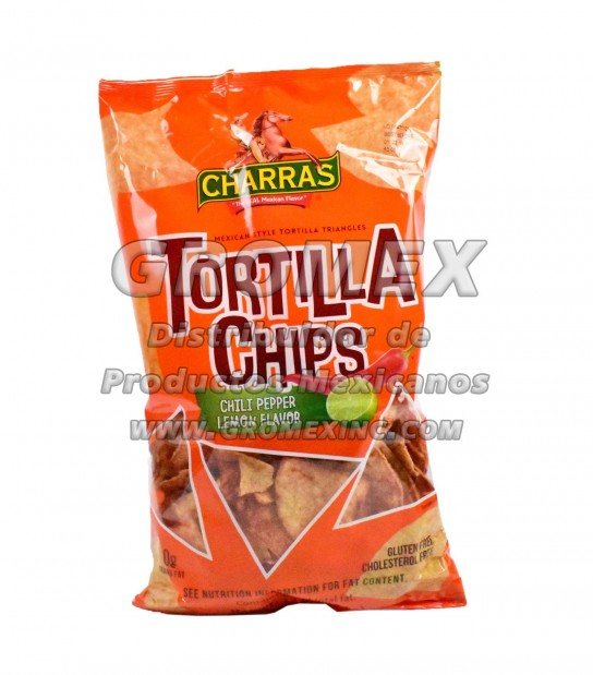 Charras Chips Chile/Limon 8/12 oz