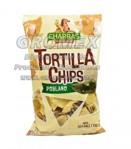 Charras Chips Poblano 8/12 oz